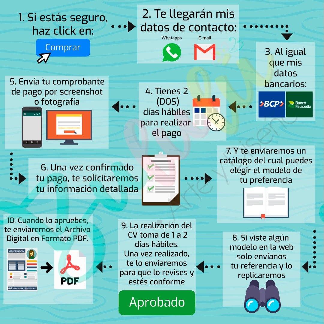 Curriculum Vitae - Hoja De Vida - Cv - Resumen Curricular - S/ 25 ...