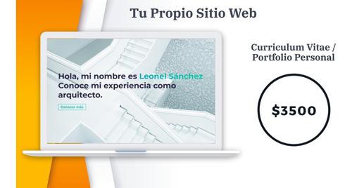curriculum vitae online / portofolio - tu propio sitio web