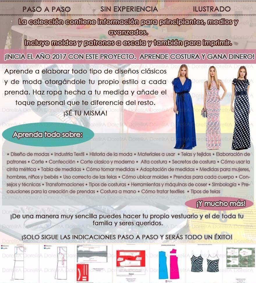 Curs Colección Corte Costura Patrones Confección Bonos Y Más - $ 39 ...