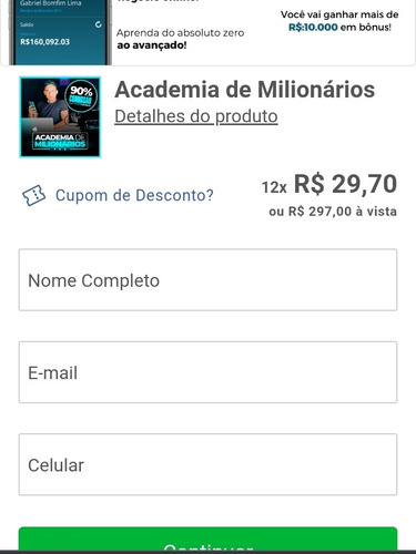 curso academia de milionários- exclusivo
