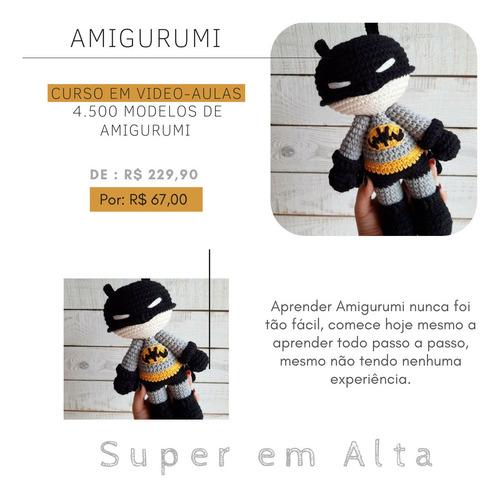 curso amigurumi com 4.500 modelos! compre o seu