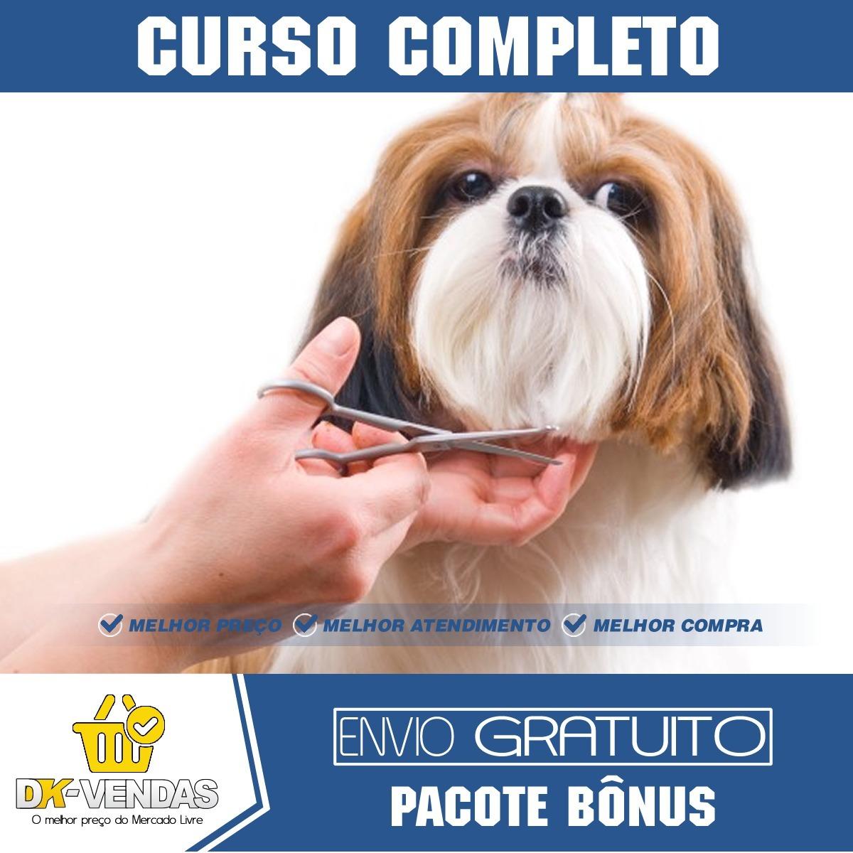 61f2c39b5a82 Curso Banho E Tosa Cães - Vídeo Aulas + Adestramento Canino - R$ 7 ...