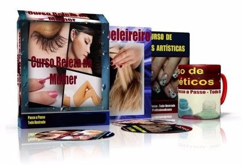 curso beleza da mulher - cabelereiro + unhas + cosméticos