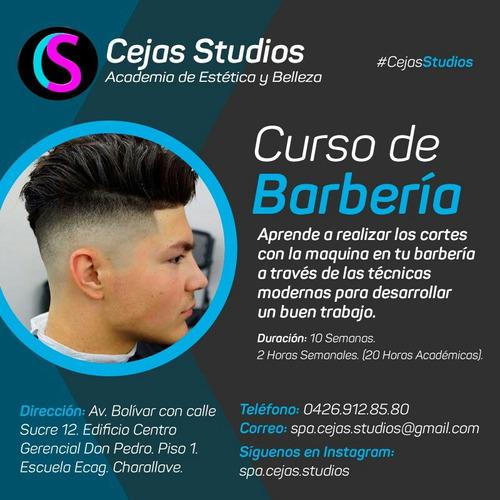 curso cejas, maquillaje, barberia, peluqueria, depilacion