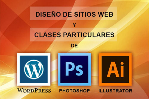 curso clases de wordpress, photoshop, illustrator
