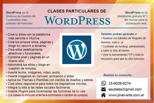 curso clases de wordpress, photoshop, illustrator online