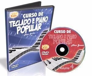 curso completo de  teclado e piano em dvd - 7 dvds - edon