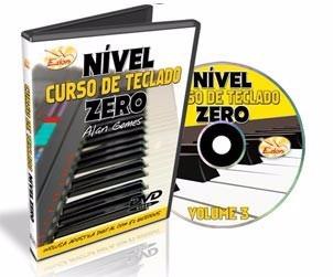 curso completo de  teclado nível zero em dvd - 6 dvds - edon