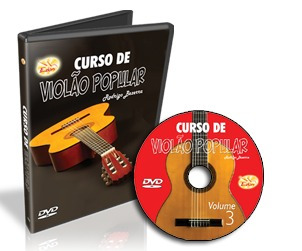 curso completo de violão popular em dvd - 5 dvds - edon