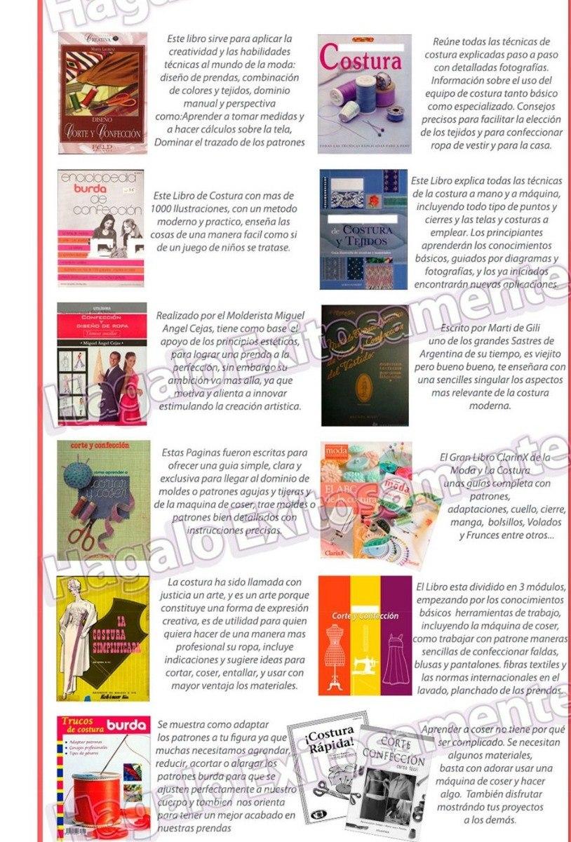 Curso Corte Costura Confección 61 Libros Patrones Y Video 1 ...