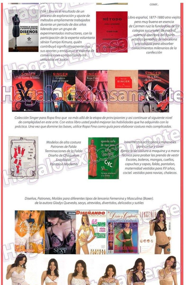 Curso Corte Costura Confección 61 Libros Patrones Y Video 34 - $ 150 ...