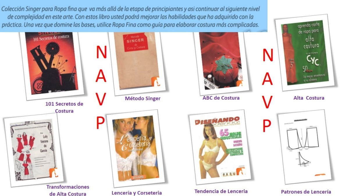 Curso Corte Costura Confección 61 Libros + Patrones Y Video - $ 50 ...