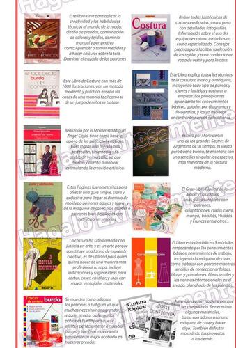 curso corte costura confección 61 libros + patrones y video