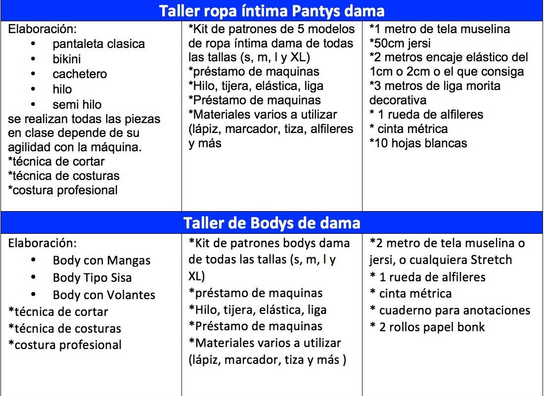 Curso Costura Pantaleta Sostenes Ropa Interior Boxe Carteras - Bs. 9 ...