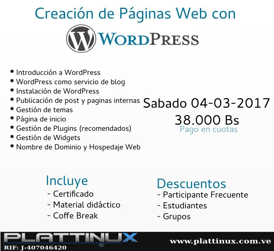 Curso: Creación De Páginas Web Con Wordpress - Bs. 3.980.000 en ...