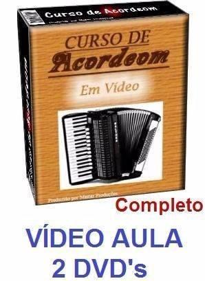 curso de acordeon + guitarra + violão - aulas em 6 dvds
