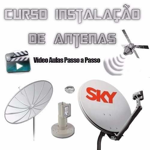 curso de antena parabólica bandas c e ku instalação