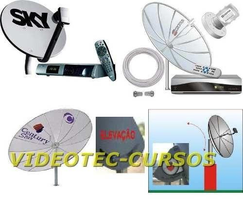 curso de antena parabólica bandas c e ku instalação c/videos
