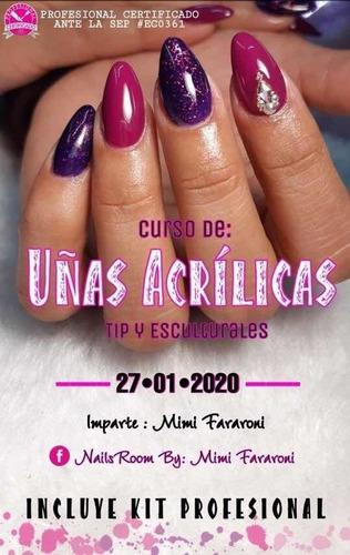curso de aplicación de uñas