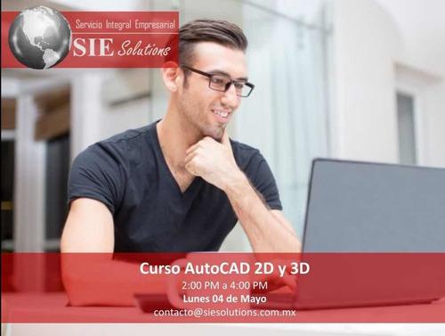 curso de autocad 2d y 3d en línea con asesor en vivo.