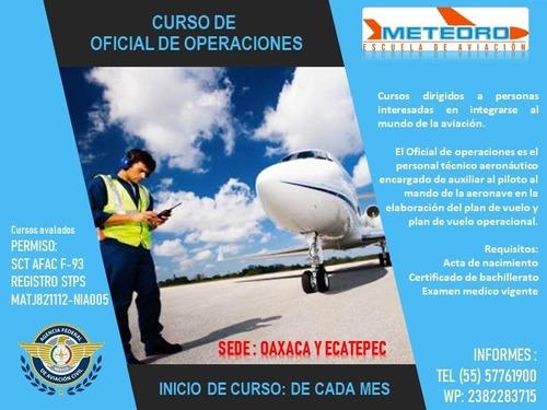 curso de aviación sobrecargo, oficial de operaciones