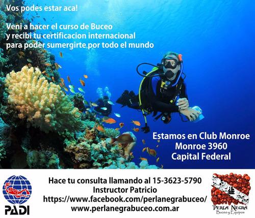 curso de buceo open water diver  padi villa urquiza.