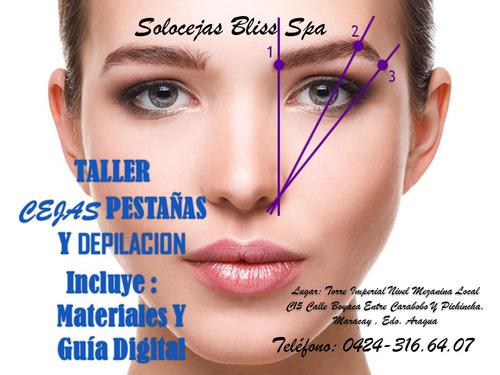 curso de cejas semipermanentes,depilación y pestañas