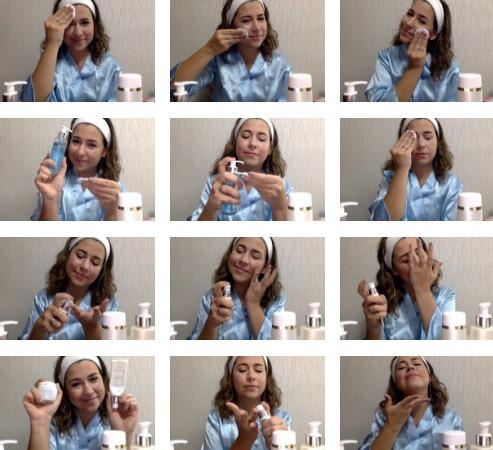 curso de cuidado facial diario (incluye set de 8 productos)