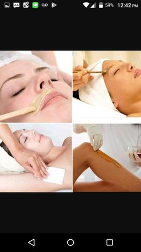 curso de depilación facial y corporal además servicios