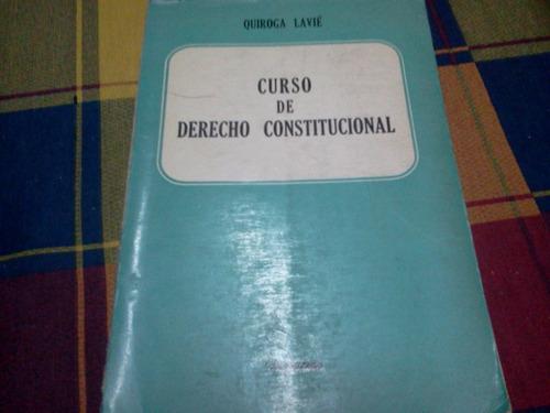 curso de derecho constitucional quiroga lavié