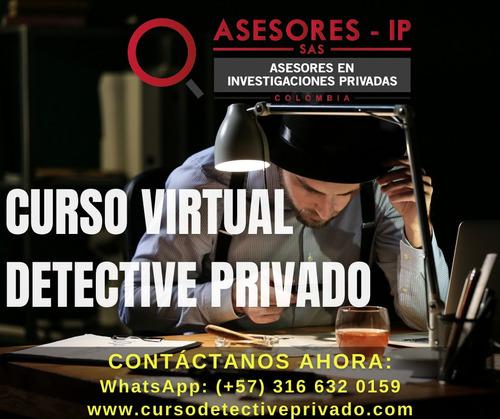 curso de detective privado - certifícate con los mejores!!