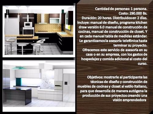 curso de diseño y construcción de cocinas italianas, clases.