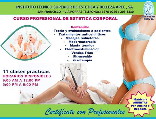 curso de estética corporal reductiva