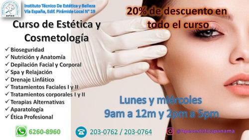 curso de estetica y cosmetologia certificado por meduca