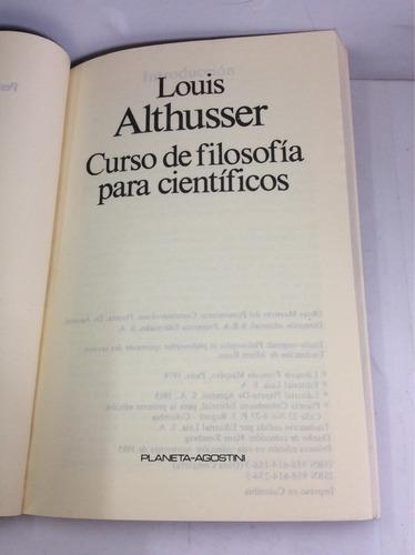 curso de filosofía para científicos, louis althusser