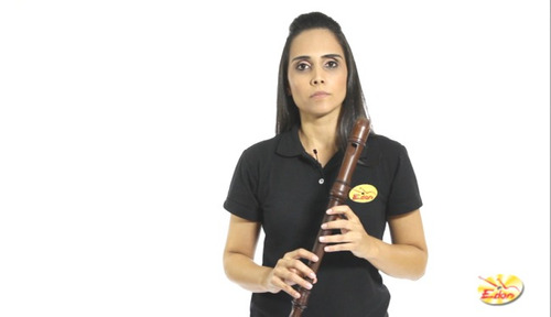 curso de flauta doce em dvd - volume 1 - edon