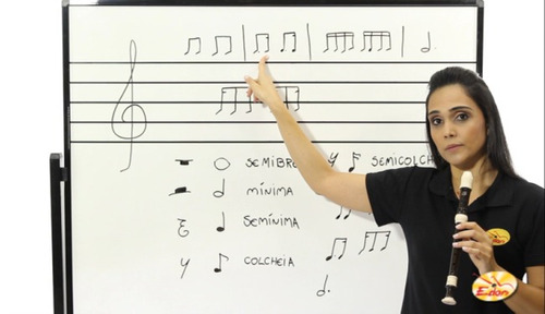 curso de flauta doce em dvd - volume 4 - edon
