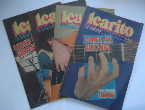 curso de guitarra icarito (4 tomos)