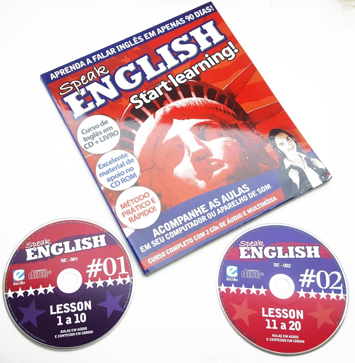 811e822a9 Curso De Ingles Basico Speak English Livro + 2 Cds Audio - R  28