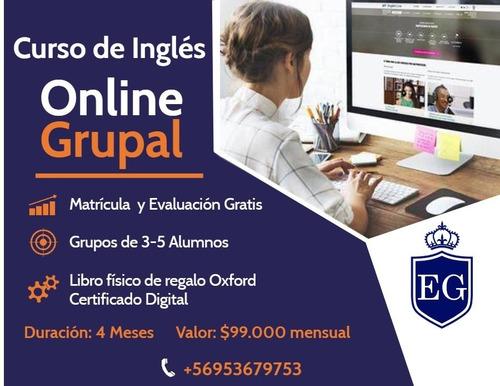 curso de inglés grupal online - inicio 1° de junio