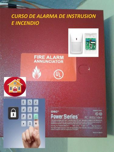 curso  de instalación de alarmas de intrusion e incendio