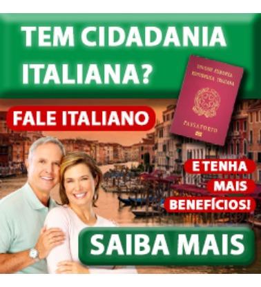 curso de italiano - ideal para quem quer cidadania italiana