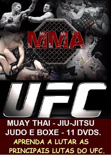 curso de jiu-jitsu, muay thai, boxe e judo, aulas em 11 dvds