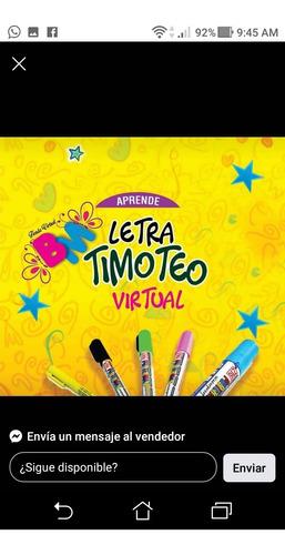 curso de letra timoteo, 100% virtual, tel, 3226180927