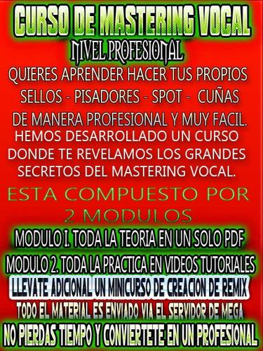 curso de masterizacion y edicion vocal avanzado