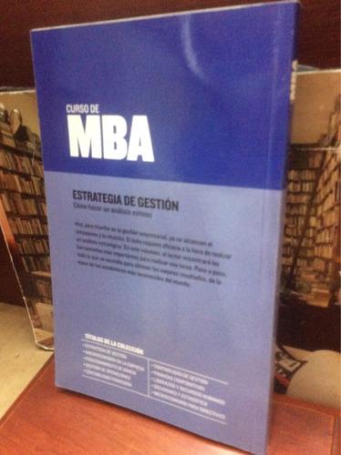 curso de mba - estrategia de gestión