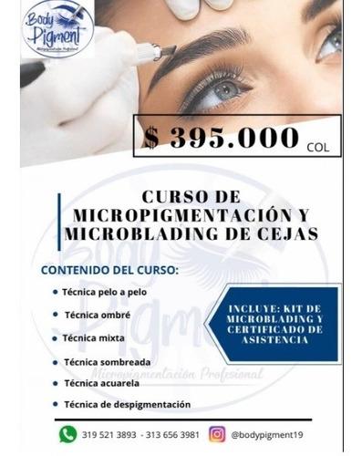 curso de micropigmentación y microblading de cejas.