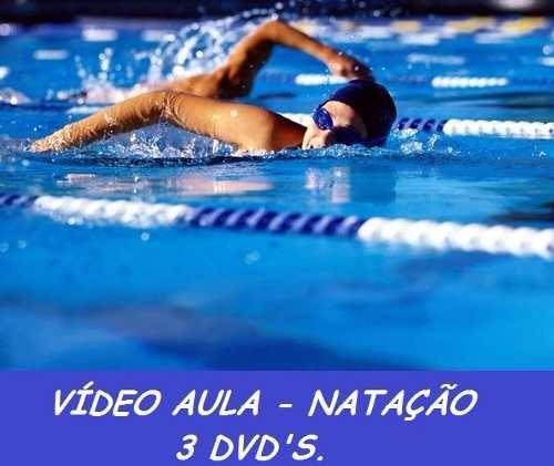 curso de natação + hidroginástica aulas em 4 dvds dfg3