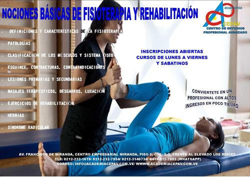 curso de nociones básicas de fisioterapia y rehabilitación