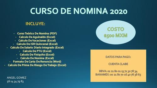 curso de nomina cdmx 2020